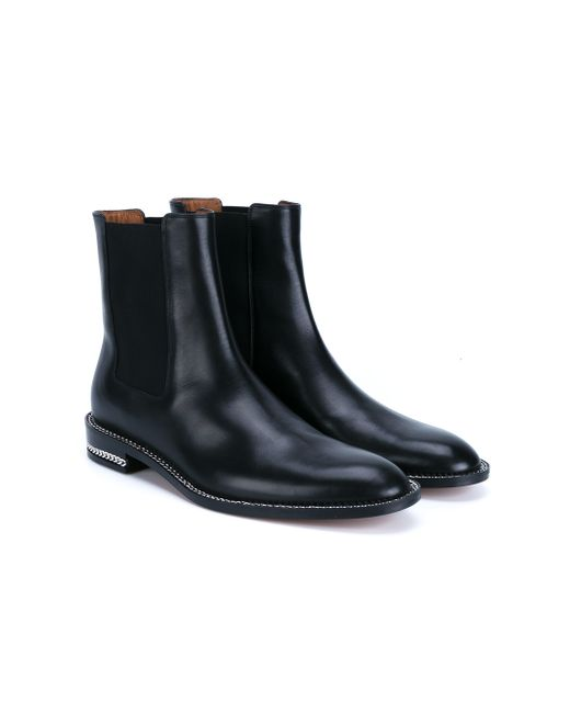 givenchy leather chelsea boots in black for lyst