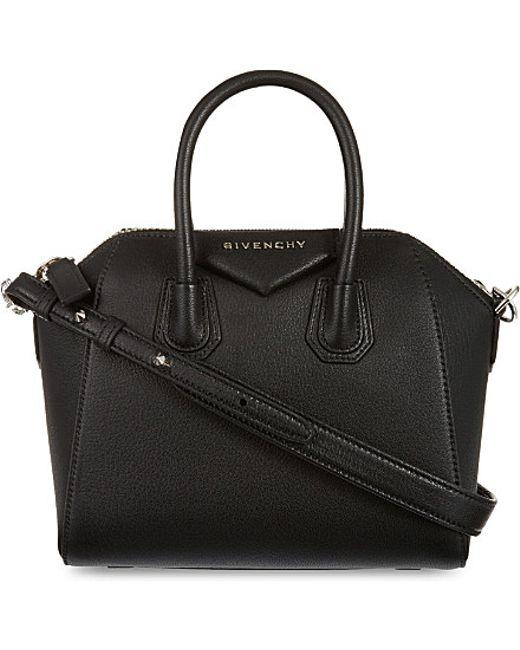 Givenchy   Black Antigona Mini Leather Tote   Lyst