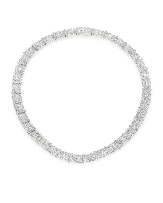 Adriana Orsini | Metallic Pave Gate Necklace | Lyst