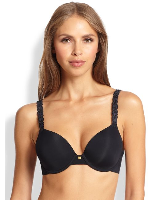 Natori Foundations | Black Pure Luxe Push-up Bra | Lyst