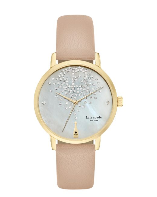 kate spade new york | Natural Champagne At Midnight Metro Watch | Lyst