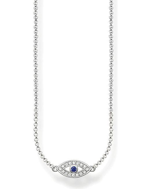 Thomas Sabo | Metallic Fatima's Garden Nazar's Eye Sterling Silver And Pavé Zirconia Necklace | Lyst