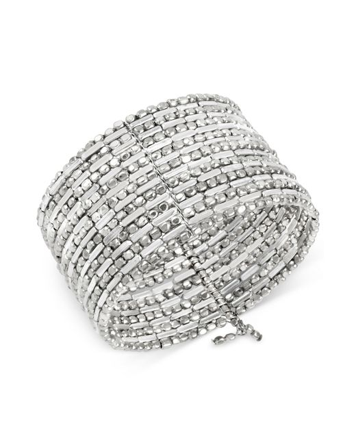 Kenneth Cole | Metallic Silver-tone Seed Bead Coil Bracelet | Lyst