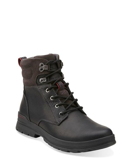 Clarks | Black Clarks 'ryerson Rise' Boot for Men | Lyst