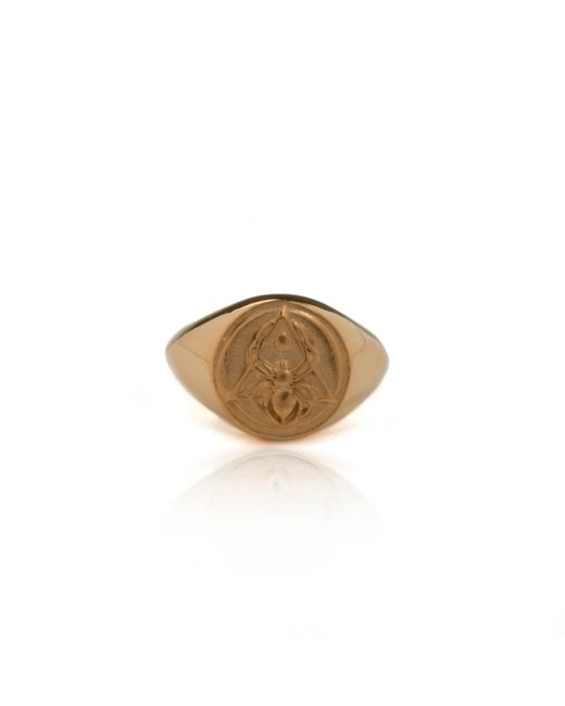 Rachel Entwistle | Metallic The Creation Signet Ring Gold | Lyst