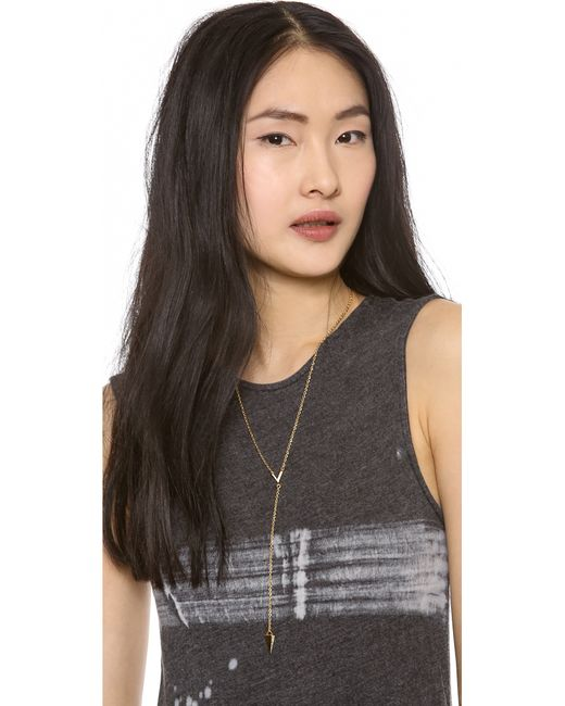 Rebecca Minkoff | Metallic Y Necklace | Lyst