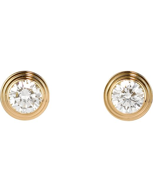 Cartier | Metallic Diamants Légers De 18ct Yellow-gold And Diamond Earrings | Lyst