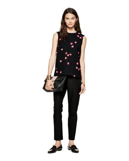 Kate Spade | Black Falling Florals Top | Lyst