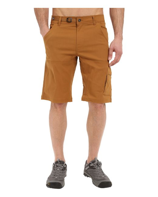 Prana Stretch Zion Short in Brown for Men