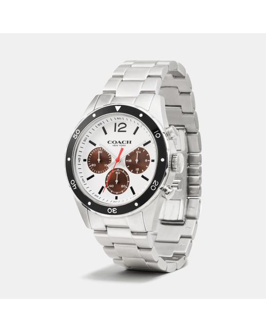 COACH | Metallic Sullivan Sport Stainless Steel Chrono Bracelet Watch | Lyst