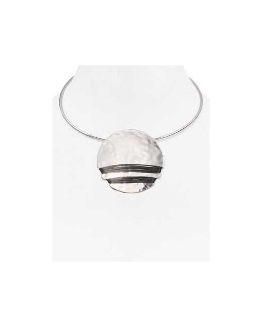Robert Lee Morris | Gray Disc Collar Necklace | Lyst