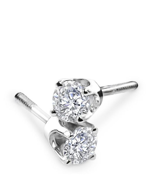 Lord & Taylor | Metallic Diamond And 14k White Gold Stud Earrings | Lyst