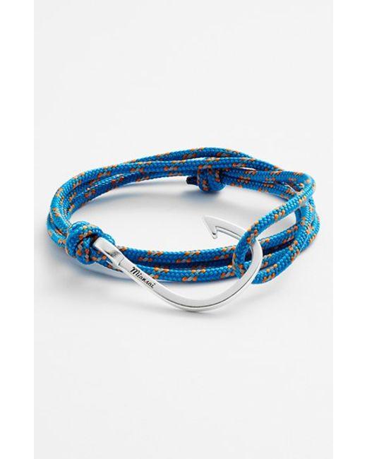 Miansai   Blue Silver Hook Rope Bracelet for Men   Lyst