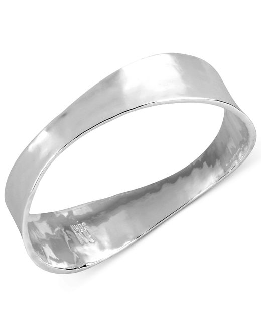 Robert Lee Morris | Metallic Silver-tone Sculptural Hinged Bangle Bracelet | Lyst