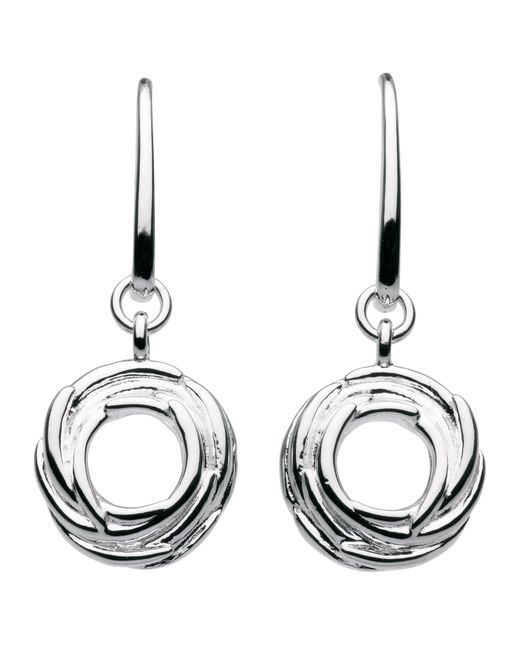 Kit Heath | Metallic Sterling Silver Nest Drop Earrings | Lyst