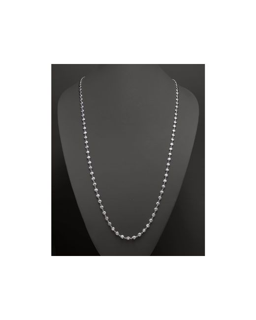 Ippolita | Metallic Glamazon Sterling Silver Flat Hammered Bead Necklace, 40"