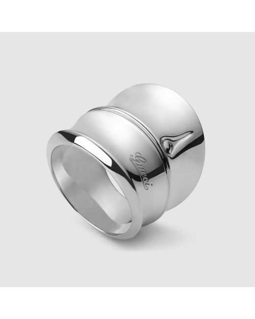 Gucci | Metallic Silver Bamboo Ring | Lyst
