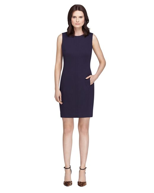 Brooks Brothers | Blue Sleeveless Dress | Lyst