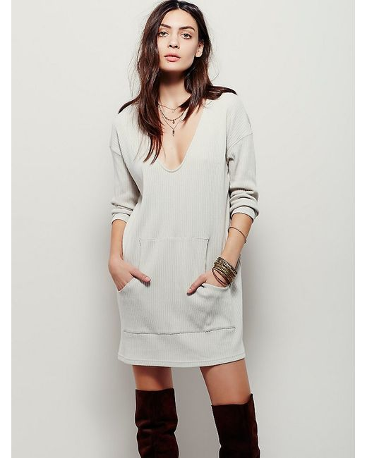 Free People | Natural Phoenix Mini Dress | Lyst