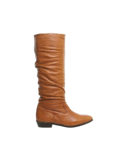 Office | Brown Eliza Slouch Knee Boots | Lyst