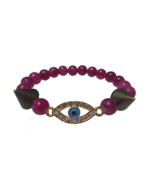 Electric Picks | Purple 'eye Spy' Bracelet | Lyst