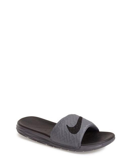Nike | Gray 'benassi Solarsoft 2' Slide Sandal for Men | Lyst