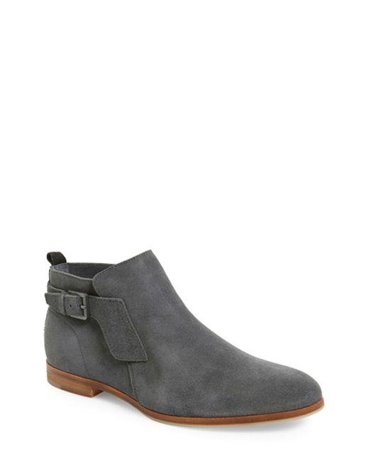 calvin klein faulkner suede boots in gray grey lyst