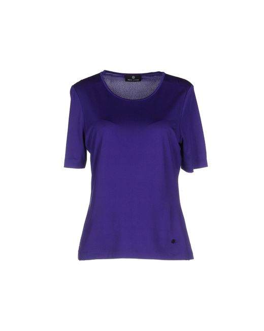 rena lange t shirt in purple lyst. Black Bedroom Furniture Sets. Home Design Ideas