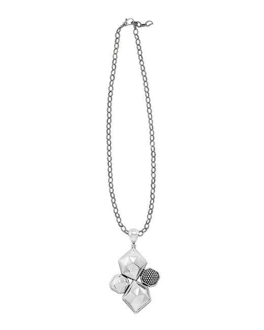 Lagos   Metallic 'enso' Pendant Caviar Rope Necklace   Lyst