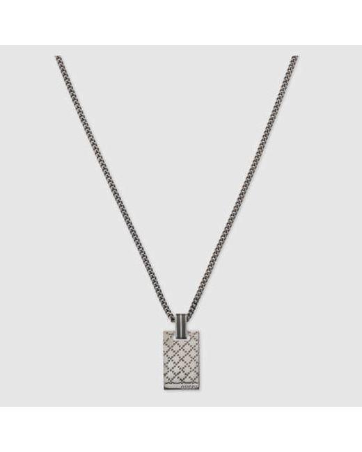 Gucci | Metallic Diamantissima Pendant Necklace for Men | Lyst