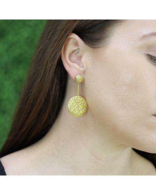Yossi Harari | Metallic Drop Lace Diamond Earrings | Lyst