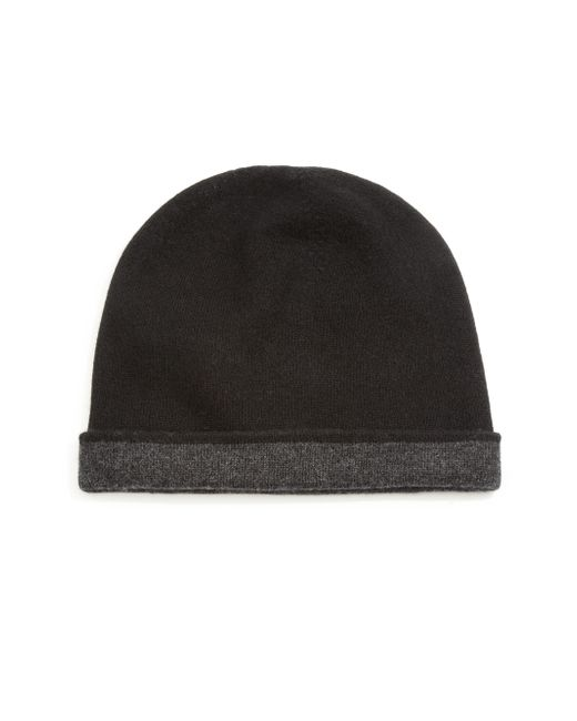 Saks Fifth Avenue | Black Reversible Cashmere Beanie for Men | Lyst