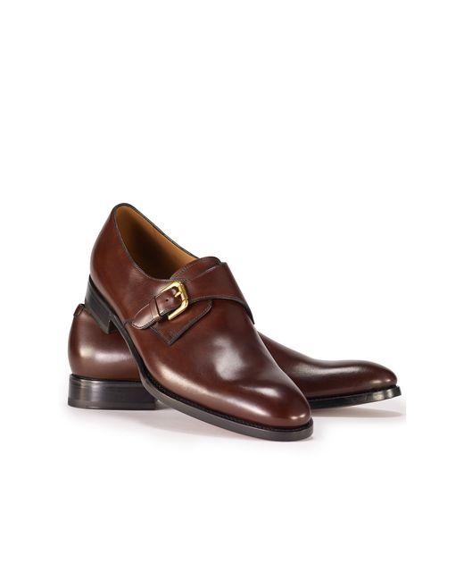 Ralph Lauren   Brown Darnell Calf Monk-strap Shoe for Men   Lyst