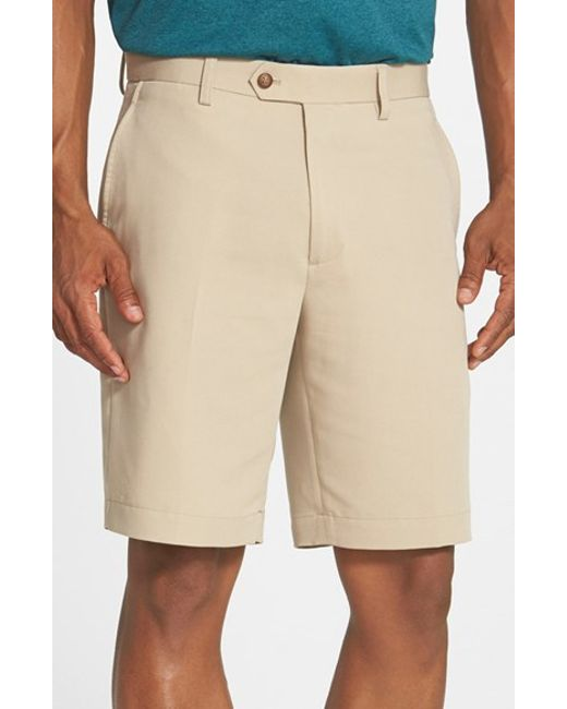 Cutter & Buck | Natural Microfiber Twill Shorts for Men | Lyst