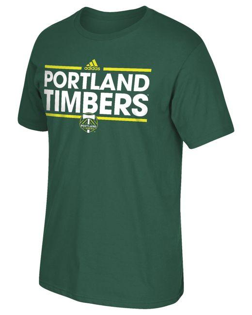 Adidas originals men 39 s portland timbers dassler t shirt in for T shirt printing in portland oregon