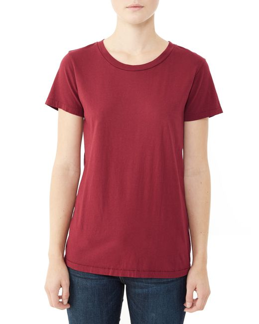 Alternative Apparel | Red Vintage Garment Dyed Crew T-shirt | Lyst
