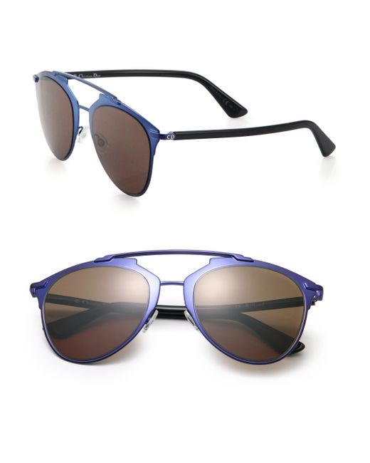 Dior | Blue Reflected 52mm Modified Pantos Sunglasses | Lyst