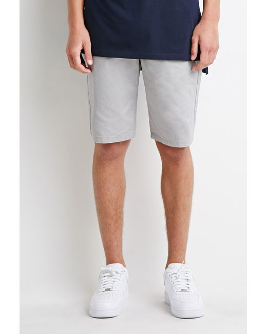Forever 21 | Gray Zip-pocket Drawstring Shorts for Men | Lyst