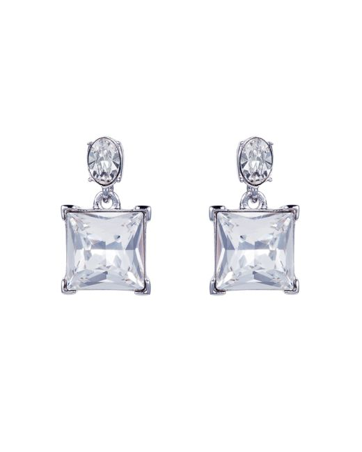 Aurora | Metallic Square Stud Earrings | Lyst