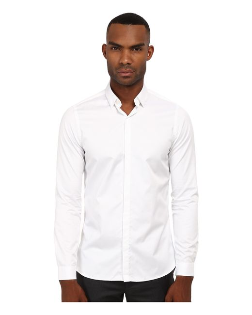 The Kooples | White Fitted Smart Twill Button Up for Men | Lyst