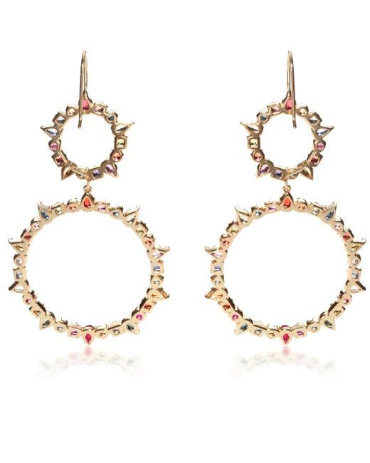 Emily & Ashley | Metallic Sapphire Circle Earrings | Lyst