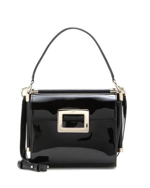 Roger Vivier | Black Miss Viv' Carré Small Patent Leather Shoulder Bag | Lyst