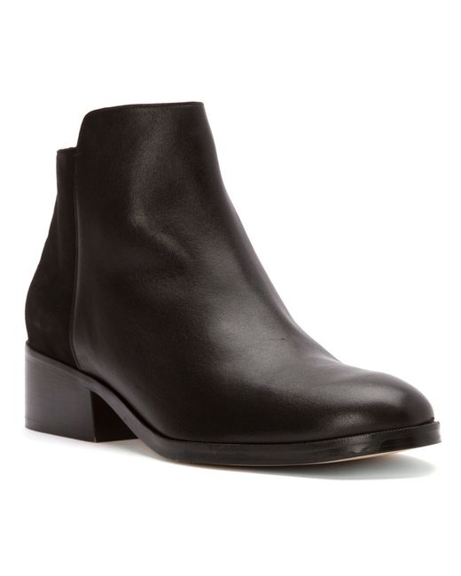 Cole Haan | Black Elion Grand.os Leather & Suede Bootie | Lyst