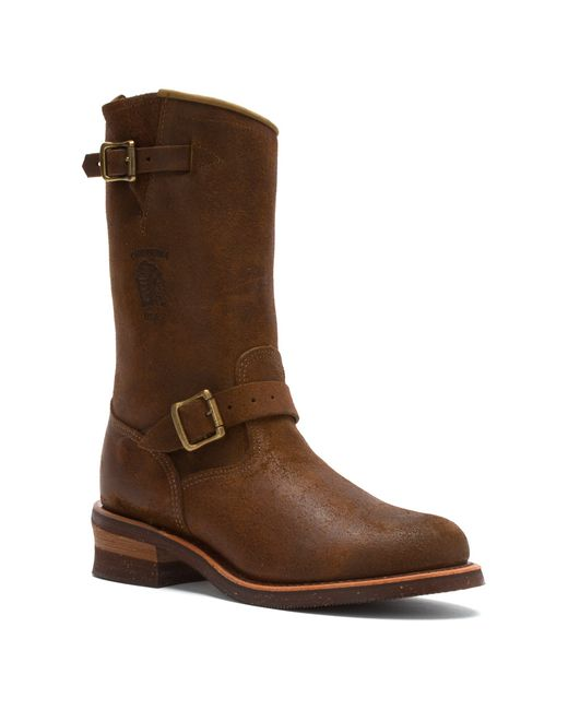 chippewa 27911 11 inch engineer boot in brown for lyst