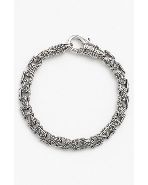 Konstantino | Metallic 'classics' Carved Bracelet for Men | Lyst