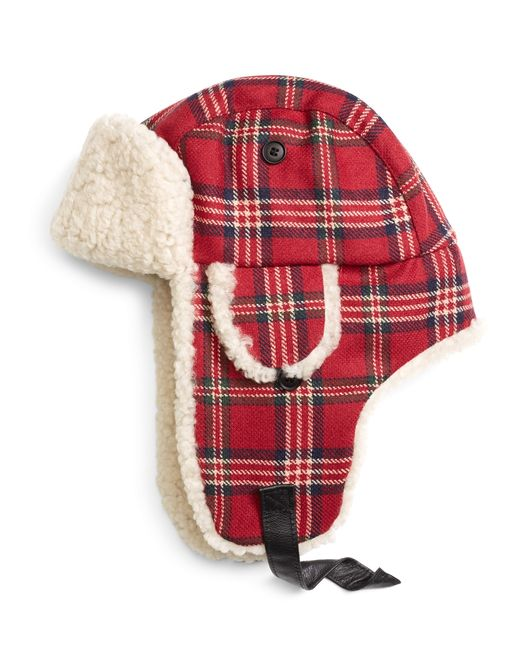 Brooks Brothers | Red Signature Tartan And Shearling Trapper for Men | Lyst