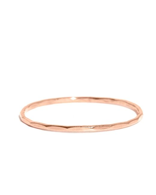 Melissa Joy Manning | Metallic 18k Rose Gold Hammered Texture 1mm Ring | Lyst
