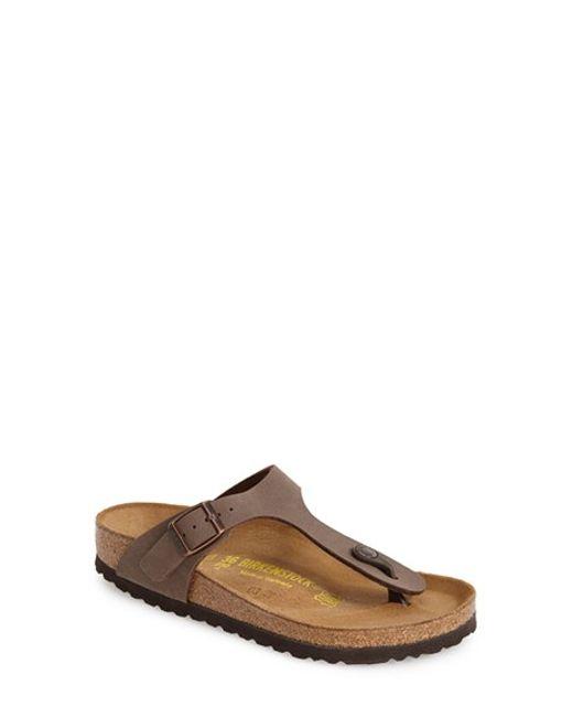 Birkenstock | Brown 'gizeh' Birko-flor Thong Sandal | Lyst