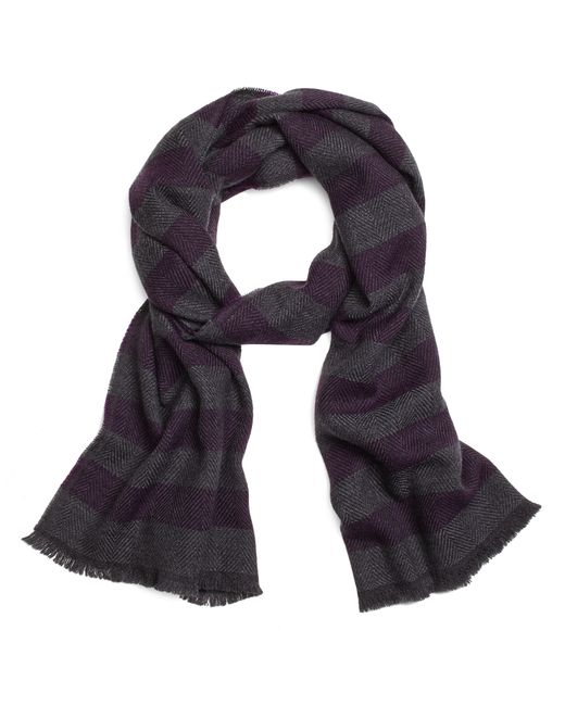 Brooks Brothers | Purple Herringbone Stripe Scarf for Men | Lyst