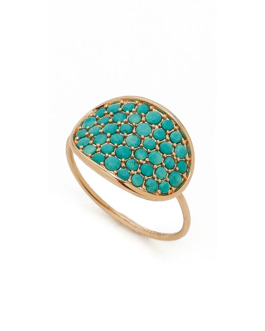 Ginette ny fallen sky large sequin ring in blue lyst